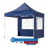 Шатра 3х3м - Синя сгъваема 22кг в комлект с 2 страници с прозорец