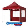 Шатра 3х3м - Червена сгъваема 22кг в комлект с 2 страници с прозорец